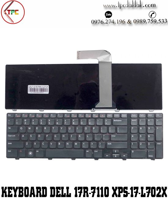 Bàn phím Laptop Dell Ispiron 17R N7110 - XPS 17 L702X | Keyboard Laptop Dell N7110 - XPS L702X