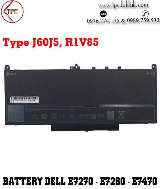 Pin Laptop Dell Latitude e7270 - e7260 - e7470 Type J60J5-R1V85-MC34Y-0MC34Y-242WD-451-BBSX