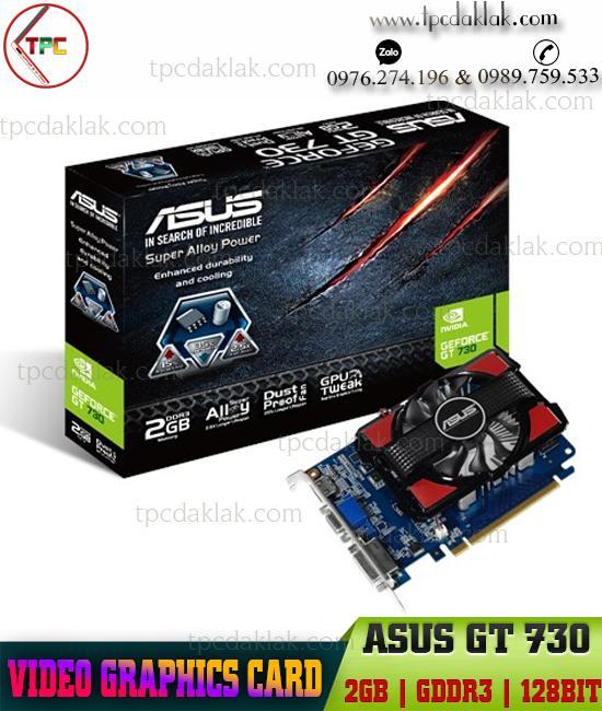 Card màn hình máy tính Asus GT 730 2GB GDDR3 128BIT| VGA ASUS GT730-2GD3-128BIT CHÍNH HÃNG