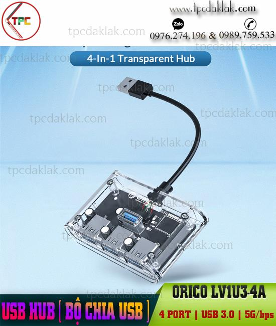 Bộ chia cổng USB [ USB HUB ] Orico 4 PORT - USB 3.0 - 5Gbps - LV1U3-4A | HUB ORICO 3.0 4 Cổng