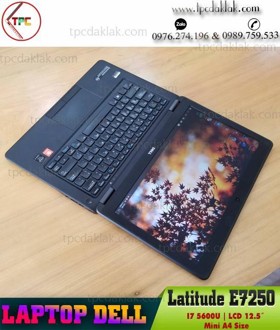 """Laptop Dell Latitude E7250/ Core I7 5600U/ Ram 4GB/ SSD 128GB/ HD Graphics 5500/ LCD 12.5""""HD"""