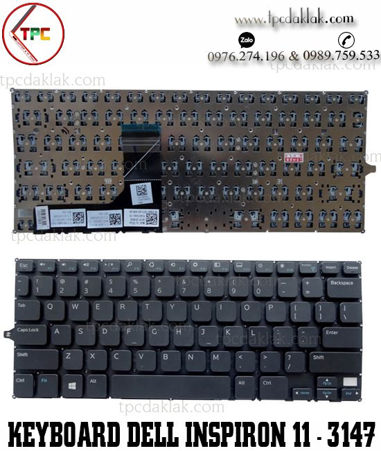 Bàn phím laptop Dell Inspiron 11-3147, 11-3148, 11-3000, 11-3158, 11-7130 , P20T | Keyboard Laptop