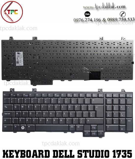 Bàn phím Laptop Dell Studio 1735, 1736, 1737, PP31L, TR334, NSK-DD001 | Keyboard Dell Dak Lak
