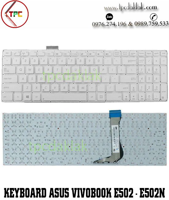 Bàn phím laptop Asus Vivobook E502, E502M, E502MA, E502N, E502SA  ( Màu Trắng )