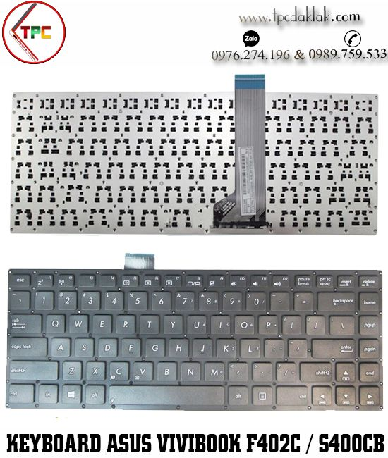 Bàn phím Laptop Asus VivoBook F402C, X402, S400CB, X402C, X402CA, S451, S451E, S451L, S451LB