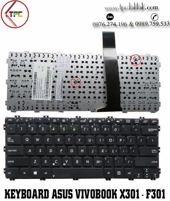 Bàn phím laptop Asus Vivobook X301, X301A, X301E, X301EB, X301K, X301S, X301U, F301, F301A, S301, S301A