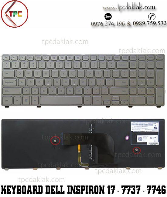 Bàn phím laptop Dell Inspiron 17 7000 - INS 17 N7737 - INS 17 N7746   Keyboard Dell 7737