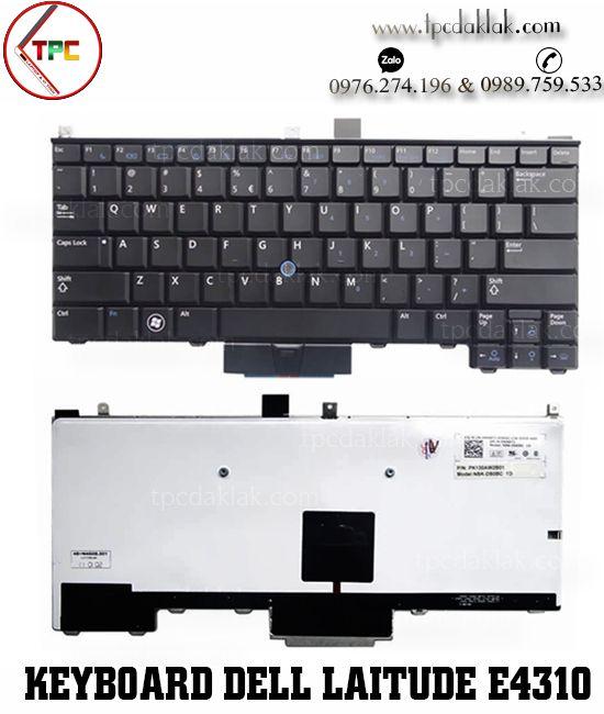 Bàn phím Laptop Dell Latitude E4310, E4200, 0P6VGX, P6VGX, N7520 | Keyboard Dell E4310