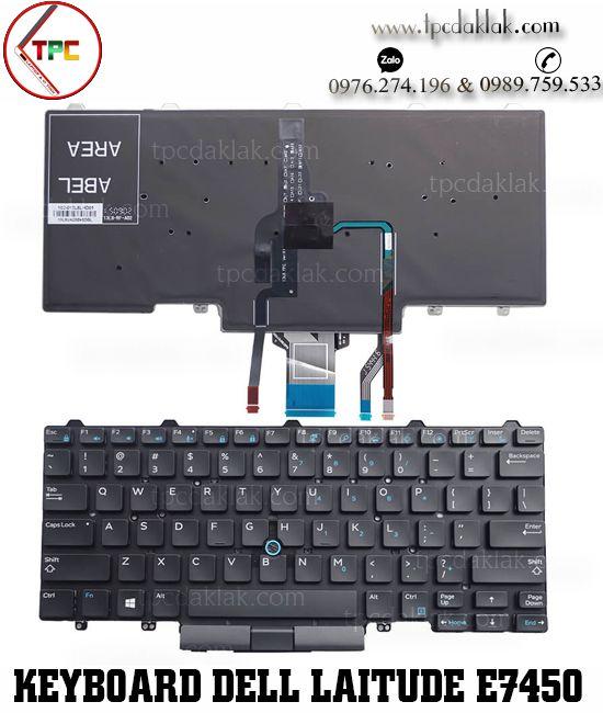 Bàn phím Laptop Dell Latitude E5450, E3340, 3350, E7470, 7350, E7450  ( Có Phím Chuột )