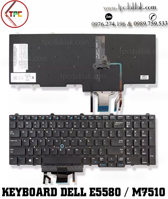 Bàn phím Laptop Dell Latitude E5550, E5570, E5580, E5590 - Precision M7520, M7510, M3510, M3520