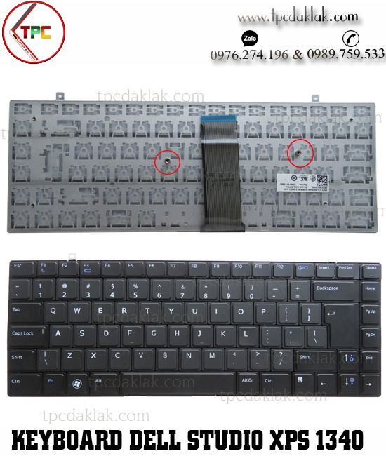 Bàn phím laptop Dell Studio XPS 1340, 1360, 1640, 1645, 1647, PP17S, PP35L | Keyboard Dell 1340