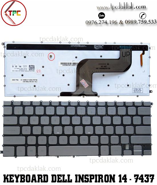 Bàn phím laptop Dell Inspiron 14 - 7437 , Dell Inspiron 14 7000 - N7437 | Keyboard Dell N7437