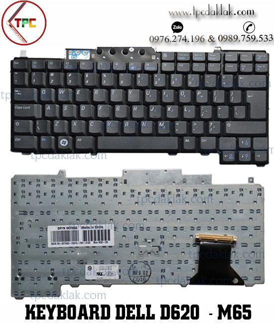 Bàn phím Laptop Dell Latitude D620 /D630/ D820/ D830 - Precision M65 /DR160 ( PP10S PP18L )