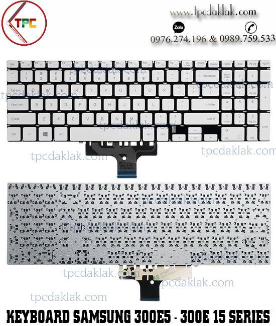 Bàn phím Laptop Samsung 300E5sM, 300E5K, 3500EL, 3500EM, 370E5, 370B5J, 35X0AA ( Màu Trắng )