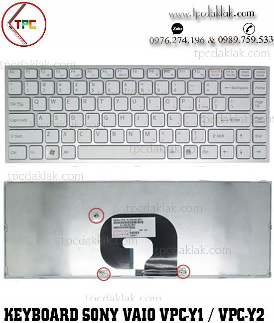 Bàn phím Laptop Sony Vaio VPC - Y Series - VPC Y1 / VPC Y2 | NSK-S8N2M, 148905851 ( MÀU TRẮNG )
