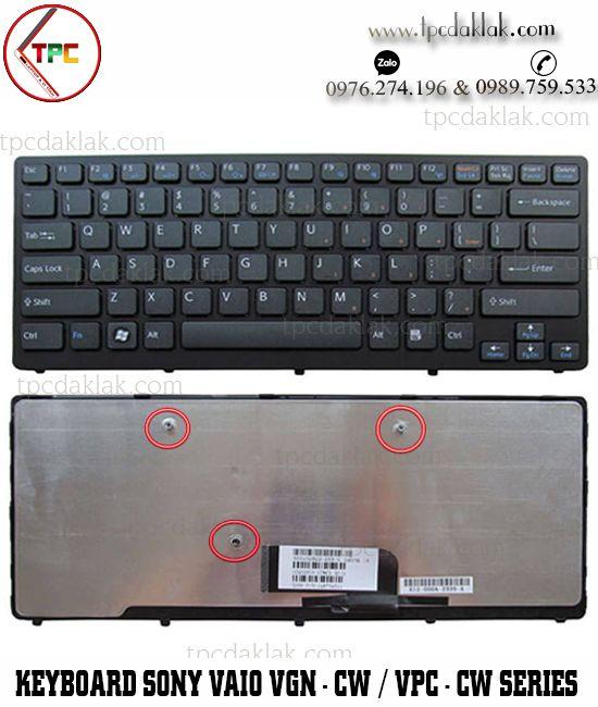 Bàn phím Laptop Sony Vaio VGN-CW Series - VPC-CW Series| MP-09F58PA-8861, NSK-S7B1E  ( MÀU ĐEN )