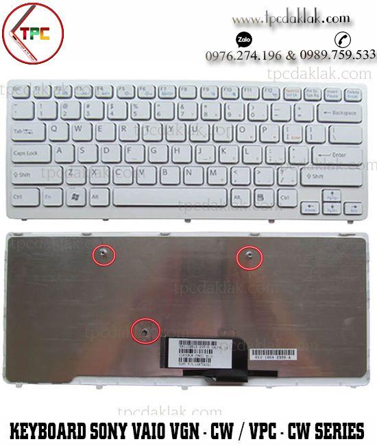 Bàn phím Laptop Sony Vaio VGN-CW Series - VPC-CW Series| MP-09F58PA-8861, NSK-S7B1E  ( MÀU TRẮNG )