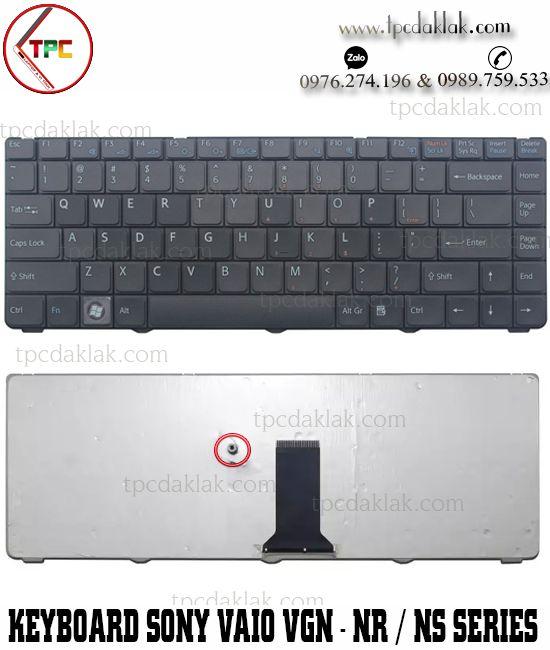 Bàn phím Laptop Sony Vaio VGN-NR | VGN-NS Series | V072078AK2, V072078AS2  ( Màu Đen )