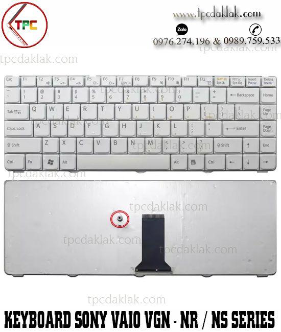 Bàn phím Laptop Sony Vaio VGN-NR | VGN-NS Series | V072078AK2, V072078AS2  ( Màu Trắng )