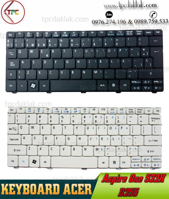 Bàn phím Laptop Acer Emachine 350, NAV51, eM350, eM350, NAV51, 350, N55C  ( White & Black )