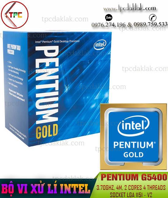 Bộ xử lý ( CPU ) Intel® Pentium Gold G5400 - 3.70GHz, 4M Cache, 2 Cores 4 Threads, Socket LGA 1151-V2