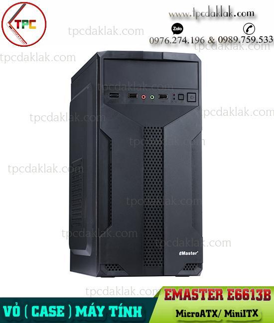 Vỏ ( Case ) máy tính bàn Emaster E6613B ( Chưa Fan ) | Case Desktop PC Emaster E6613B ( MicroATX/ MiniITX )