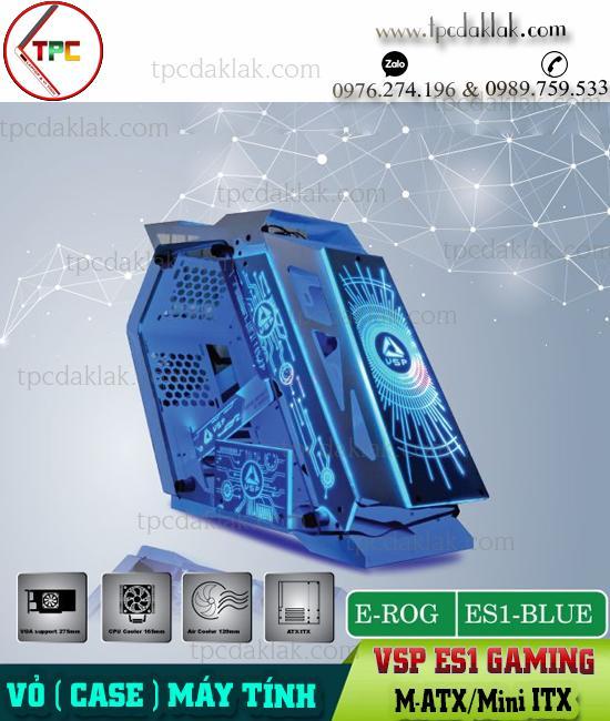 Vỏ ( Case ) máy tính bàn Gaming VSP ESPORT REPUBLIC OF GAMERS ES1 - LED RGB ( M-ATX/Mini ITX )