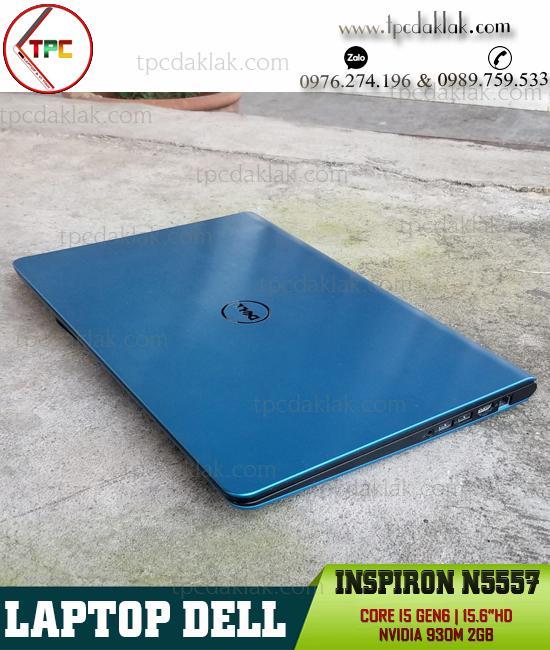 Laptop Dell Inspiron 15 N5557 ( Màu Xanh ) I5 6200u / Ram 8GB / SSD 128GB / VGA 2GB / LCD 15.6 HD
