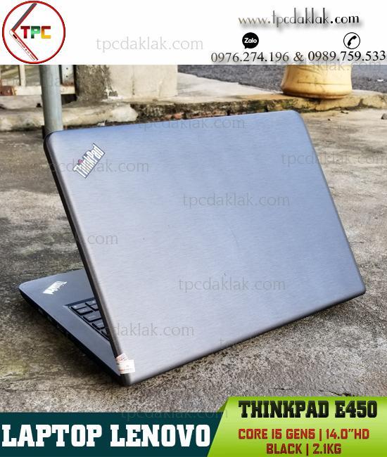 "Laptop Lenovo Thinkpad E450/ Core I5 5200U/ Ram 4GB/ SSD 128GB/ HD graphics 5500/ LCD 14"" HD"