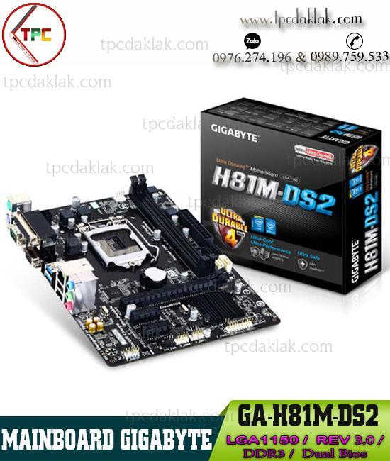 Mainboard Gigabyte H81 ( GA-H81M-DS2 Rev 3.0 ) - Bo Mạch Chủ Gigabyte GA-H81M-DS2 ( Like New )