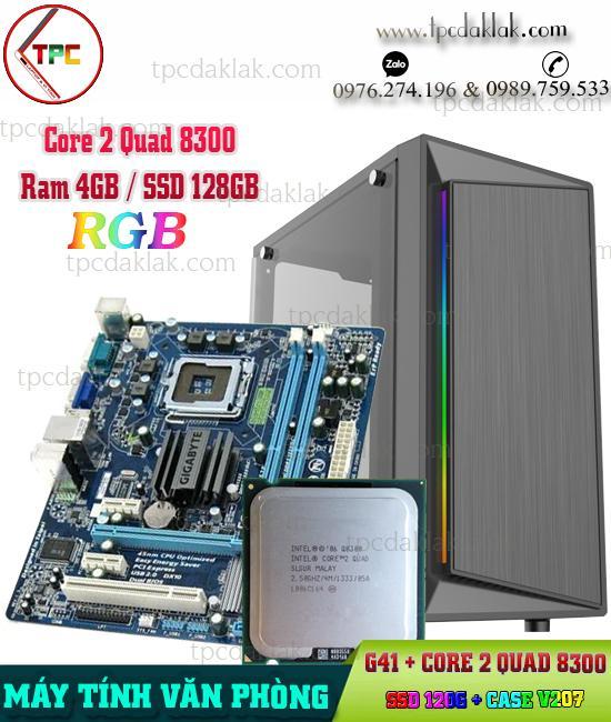 Máy Tính Bàn | Manboard Gigabyte G41, Intel Quad Q8300, Ram 4GB, HDD 80GB, Case VPS V207