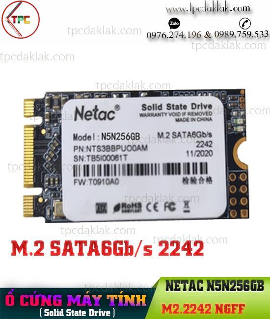 Ổ cứng SSD M2.2242 256GB NETAC N5N256GB | Ổ cứng máy tính, laptop SSD M2 SATA 6Gb/s 2242