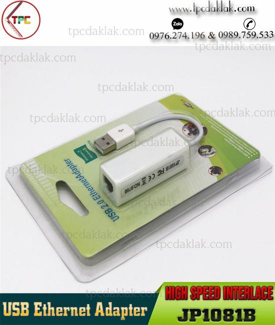 Thiết Bị Chuyển Đổi Cổng USB to Lan | USB 2.0 Ethernet Adapter High Speed Interlace JP1081B