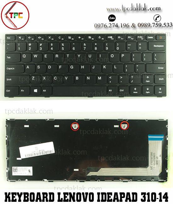 Bàn phím Laptop Lenovo Ideapad 310-14, V310-14IKB, 510-14ISK, E42-80 ( Black - Cable Một Bên )