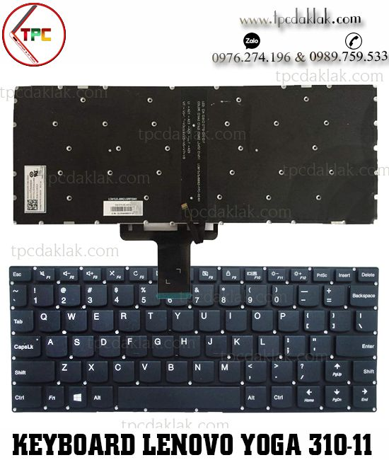 Bàn phím Laptop Lenovo Yoga 710-11IKB, 710S-11ISK, 310-11IAP, 710-11, 310-11| V154620AS  V154620AS1-US