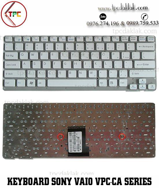 Bàn phím Laptop Sony Vaio VPC-CA Series | VPC-CA15FG, VPC-CA36F, VPC-CA35FA ( Màu Trắng )