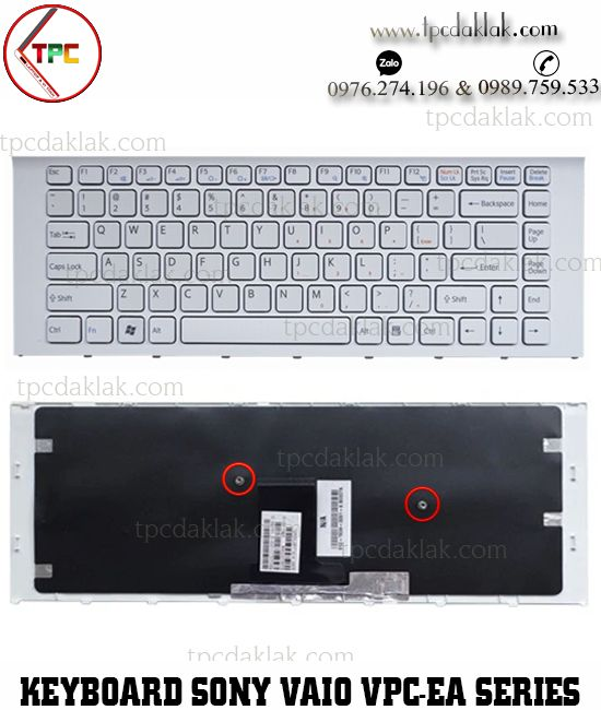 Bàn phím Laptop Sony Vaio VPC-EA, PCG-61211T | MP-09L16F0, V081678FS1 ( Màu Trắng )
