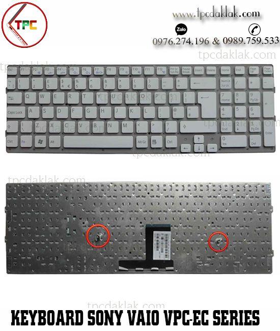Bàn phím Laptop Sony Vaio VPC-EC, VPC-EC1E/BJ, PCG-91111M | MP-09L26CK-8862 ( Màu Trắng )