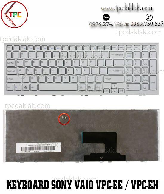 Bàn phím Laptop Sony Vaio VPC-EE / VPC-EH / PCG-71A11T | AEHK1U00120, NSK-SB0SQ ( Màu Trắng )