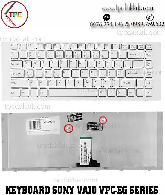 Bàn phím Laptop Sony Vaio VPC-EG, PCG-61911T  | NSK-SF1SW, 9Z.N7ASW.10R ( Màu Trắng )