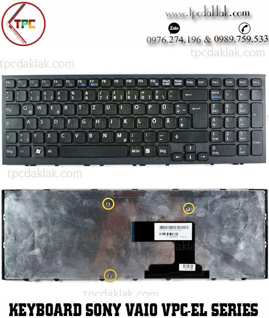 Bàn phím Laptop Sony Vaio VPC-EL , VPC-EL15EG/B, VPC-EL2S1E | NSK-SBBSW ( Màu Đen )