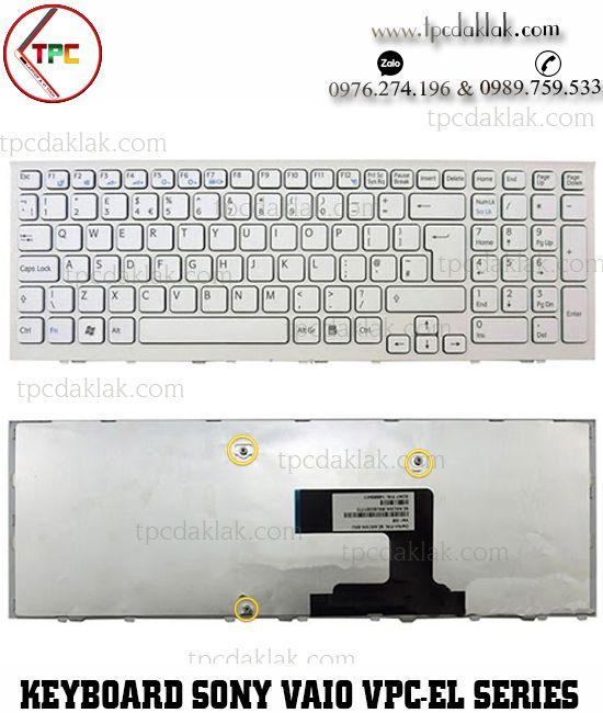Bàn phím Laptop Sony Vaio VPC-EL , VPC-EL15EG/B, VPC-EL2S1E | NSK-SBBSW ( Màu Trắng )