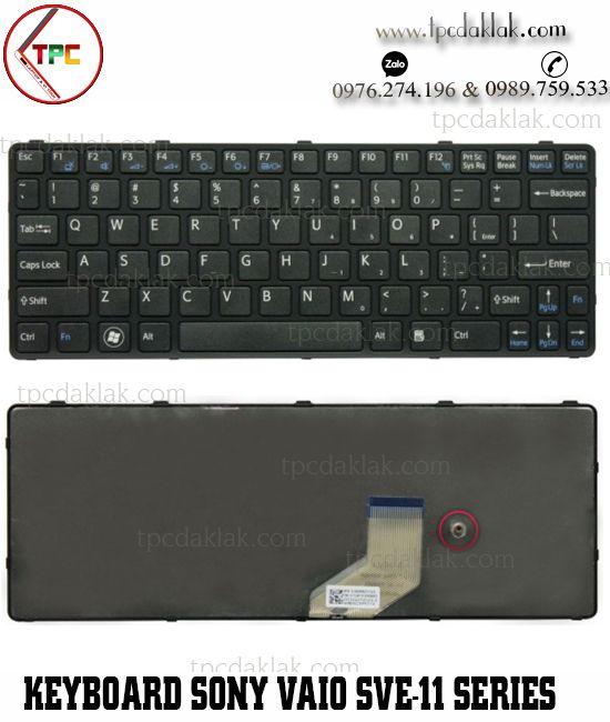 Bàn phím Laptop Sony Vaio SVE-11, SVE-11115ECP, SVE-11115ECW | 149036961ES ( Màu Đen )
