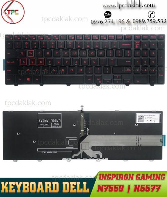 Bàn Phím Laptop Dell Gaming Inspiron 7559, 5577, 7557 | Keyboard Dell Gaming N7559, N5577, N7557