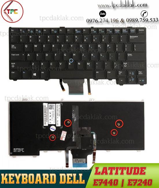 Bàn phím Laptop Dell Latitude 12 7000 E7240, 14 7000 E7440, 05KFMV, PK130VM1A26, NSK-LDAUC 0Q