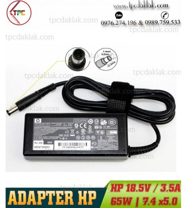 Sạc Laptop HP 18.5V – 3.5A - 65W Kim Lớn | Adapter Laptop HP 18.5V / 3.5A / 65W Outside 7.4 x 5.0 mm