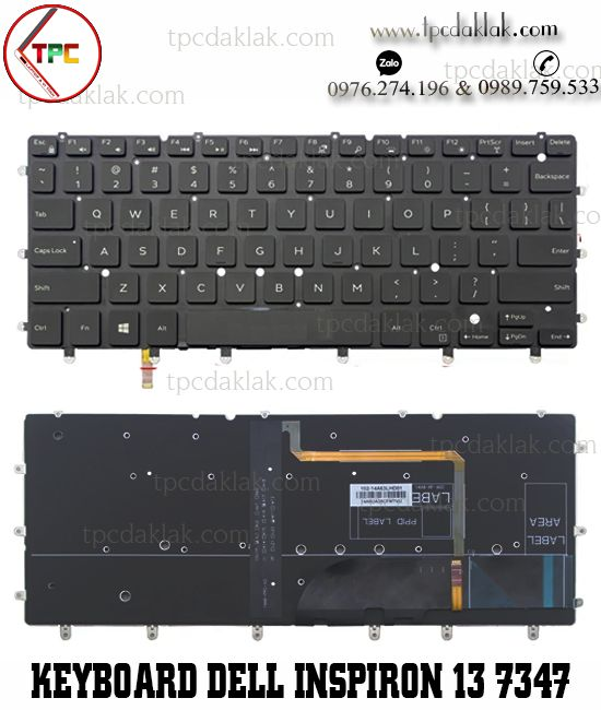 Bàn phím Laptop dell Inspiron 13 7000 7347 7352 7353 7359 7348 LED | Dell Inspiron 13 7000