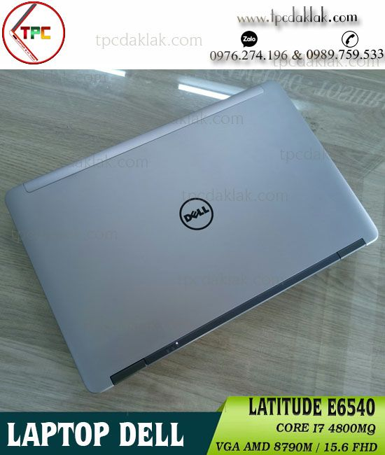 Laptop Dell Latitude E6540 Core I7 4800MQ, RAM 8GB, SSD 256GB, AMD HD 8790M 2GB, 15.6' FHD