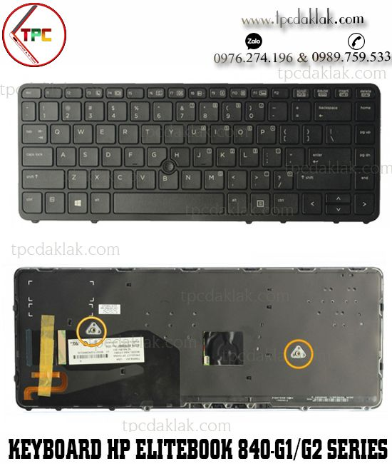 Bàn phím Laptop HP EliteBook 840-G1, 840-G2, 850-G1, 850-G2, 855-G2, ZBook-14 | NSK-CP2BV