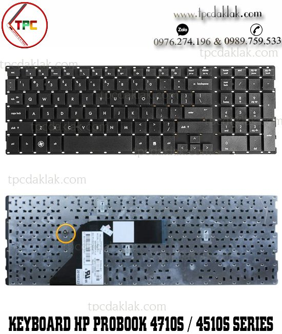 Bàn phím Laptop HP Probook 4510S, 4515S, 4710S, 4750S, V101826AK1, V101826AS1 Keyboard